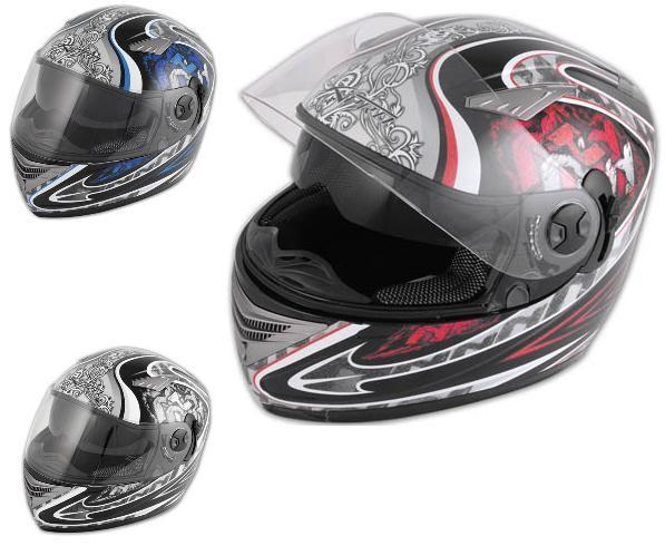 Casco Racing Doppia Visiera Integrale Moto Sportiva Naked Omologato