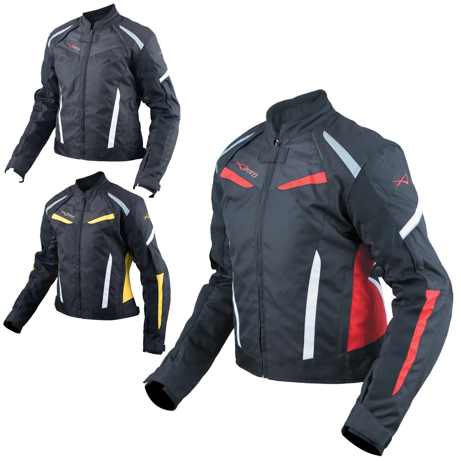 Moto Giacca Donna Sport Impermeabile Impermeabile Tessuto Riflettente