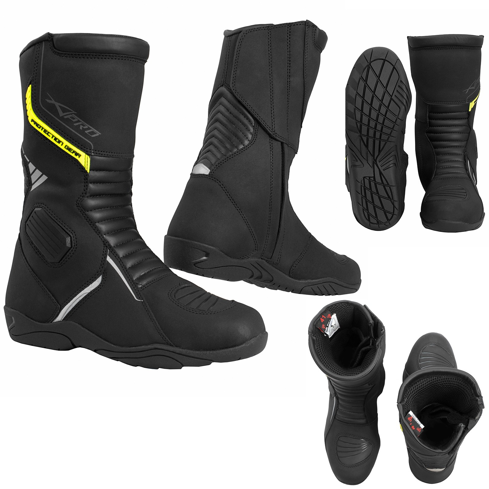Infinity-Boots-Stivali-Motorcycle-Black-Nero-Sonic-Moto-A-Pro-Set