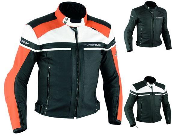 Giacca Giubbino Moto Pelle Sfoderabile Sport Custom KTM Protezioni Omologate