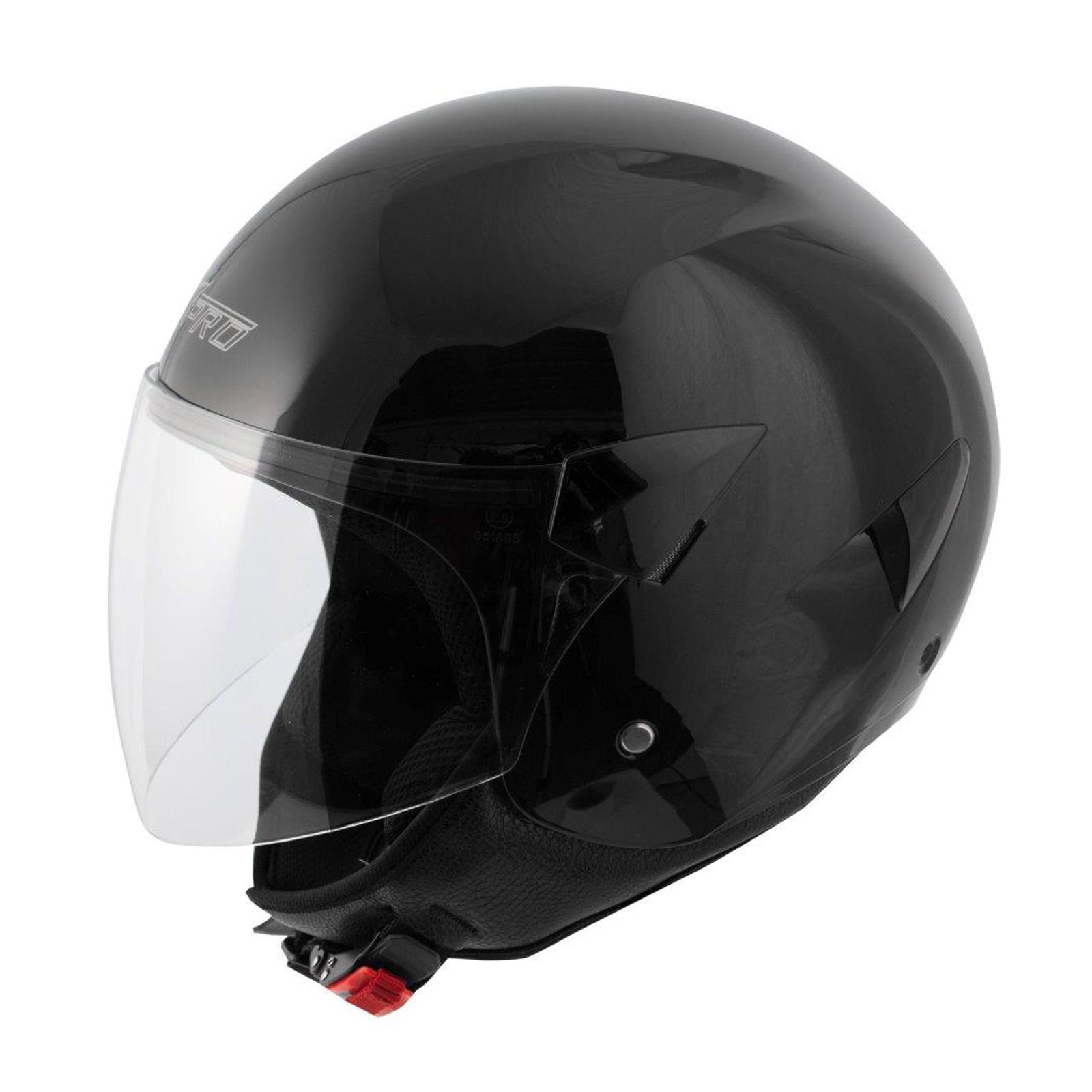 Casco Jet Scooter Moto Omologato ECE 22-05 Visiera Antigraffio Nero