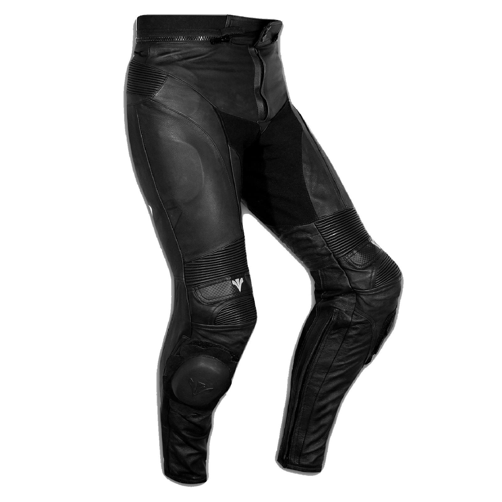 Pantaloni Pelle Sport Moto Naked Protezioni Sliders Sportivo Tecnico Nero