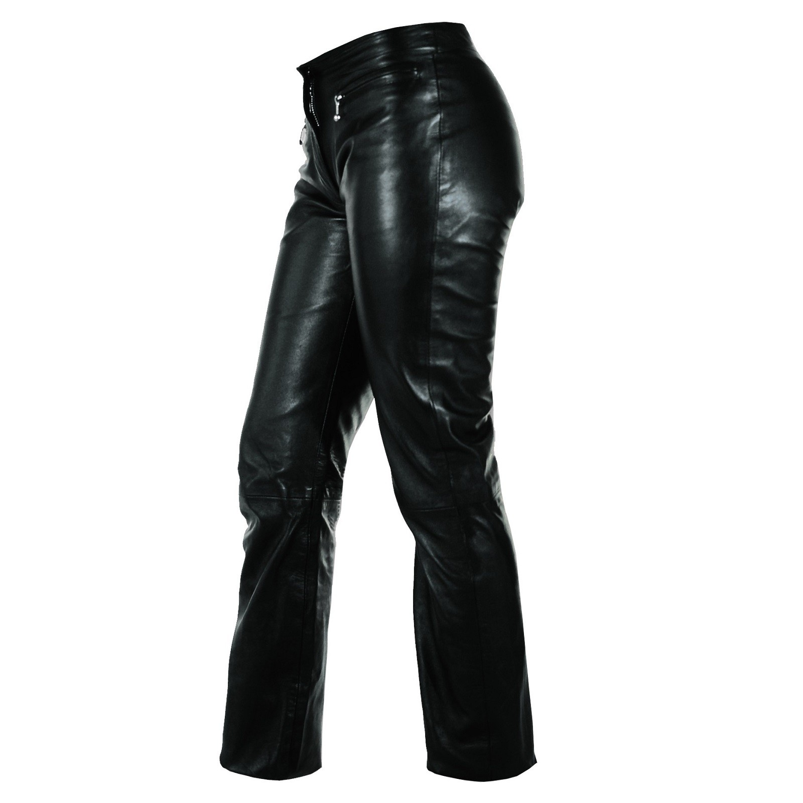new product 59f1c aee47 Pantaloni Pelle Vitello Donna Morbido Vita Bassa Jeans Moto Custom Lady