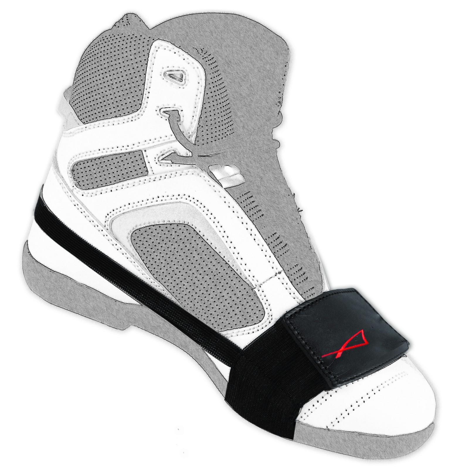 abbigliamento moto e accessori fascetta pelle salva scarpe proteggi accessorio scarpa leva. Black Bedroom Furniture Sets. Home Design Ideas