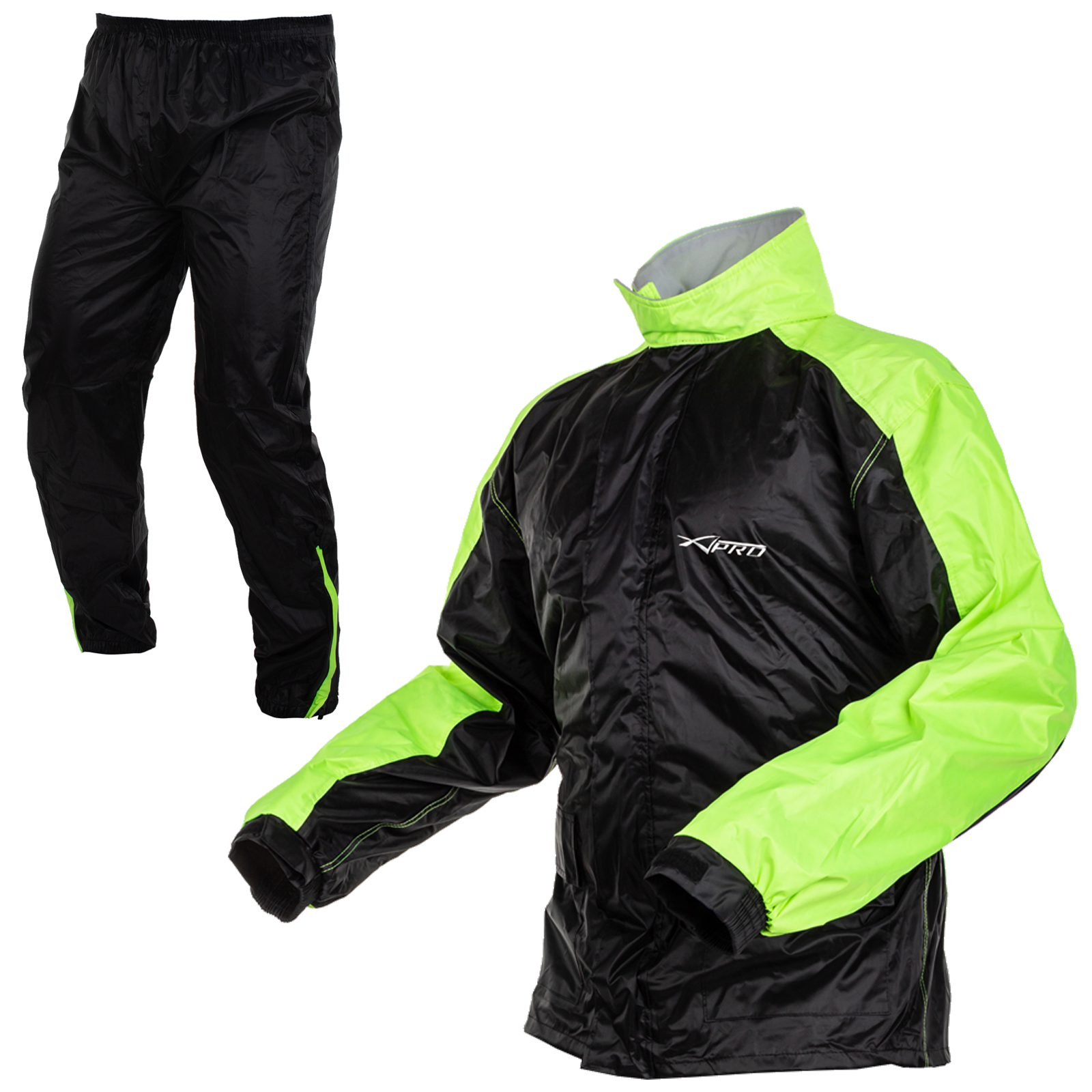 Giacca Pantaloni Impermeabile Antipioggia Scooter Alta Visibilità Moto A-PRO