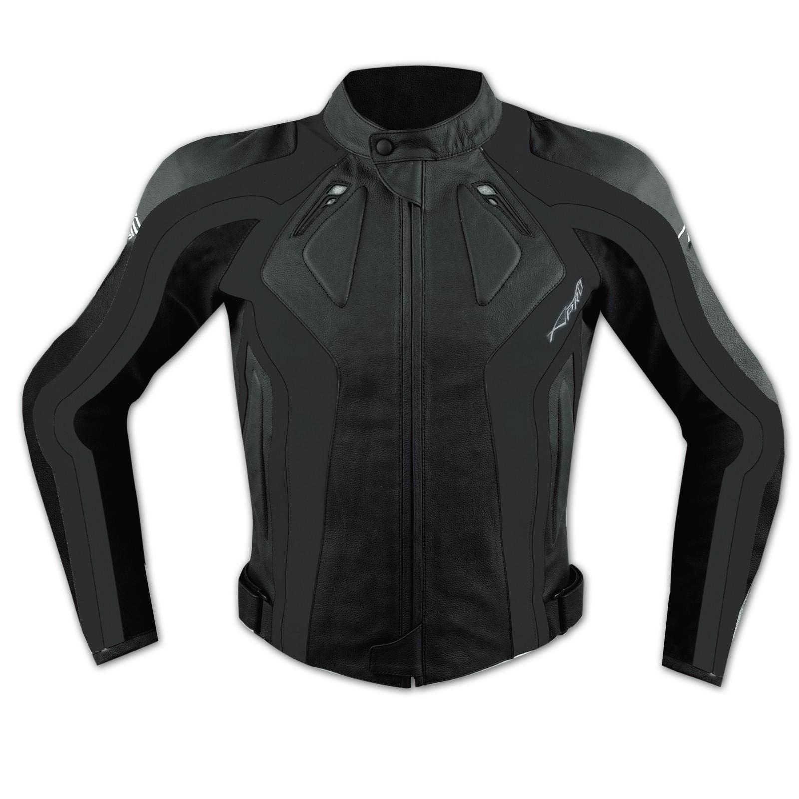Giacca Donna Lady Moto Pelle Protezioni Omologate CE Rinforzo Schiena Nero