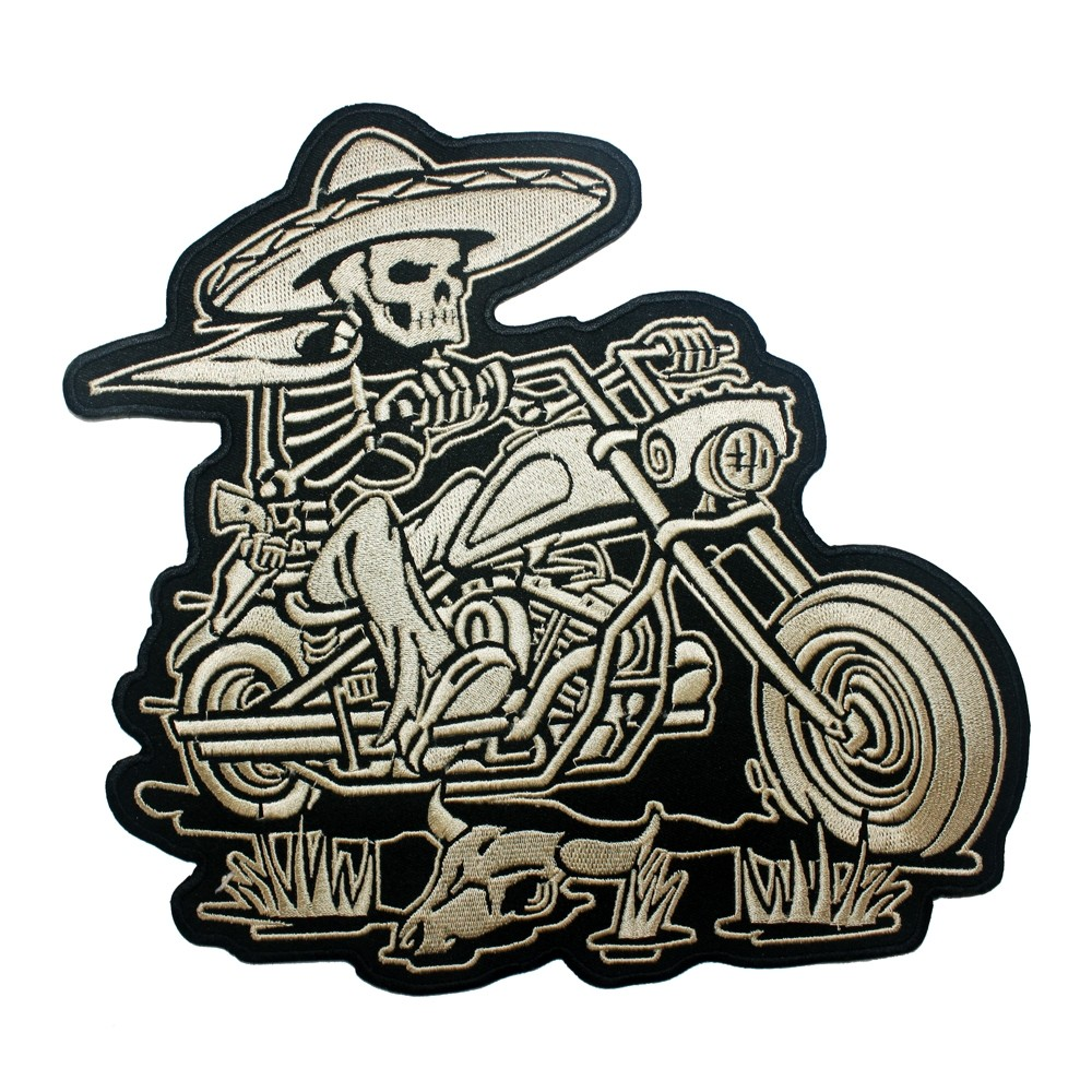 Patch-Toppa-Motorcycle-Skeleton-Black-White-Sonic-Moto-A-Pro