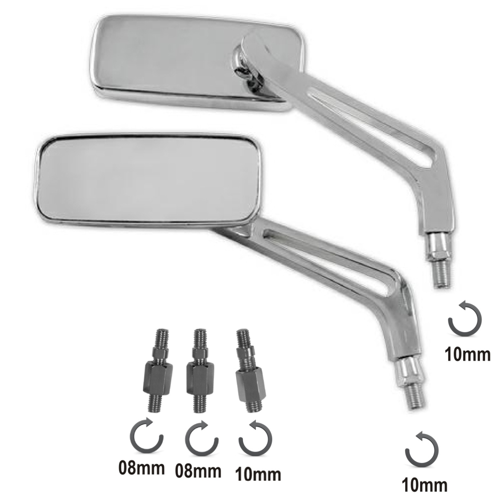 SR-4012-a-pro-specchio-cromo-mirrors-chrome-metallo-metal-sonic-moto
