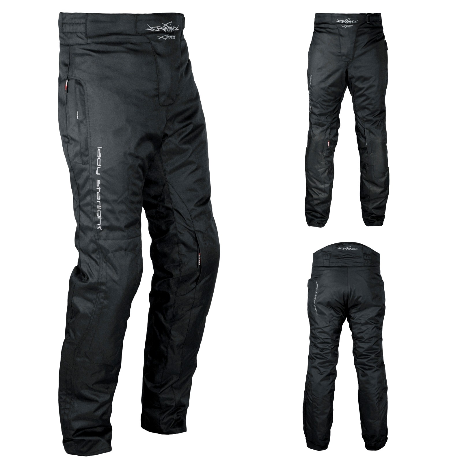 buy online 3d426 c190a Pantaloni Donna Moto Cordura Lady Protezioni CE Sfoderabile Impermeabile