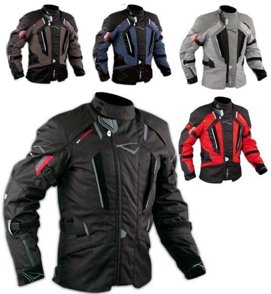 Giacca Touring Moto Cordura Tessuto Protezioni CE Sfoderabile Impermeabile