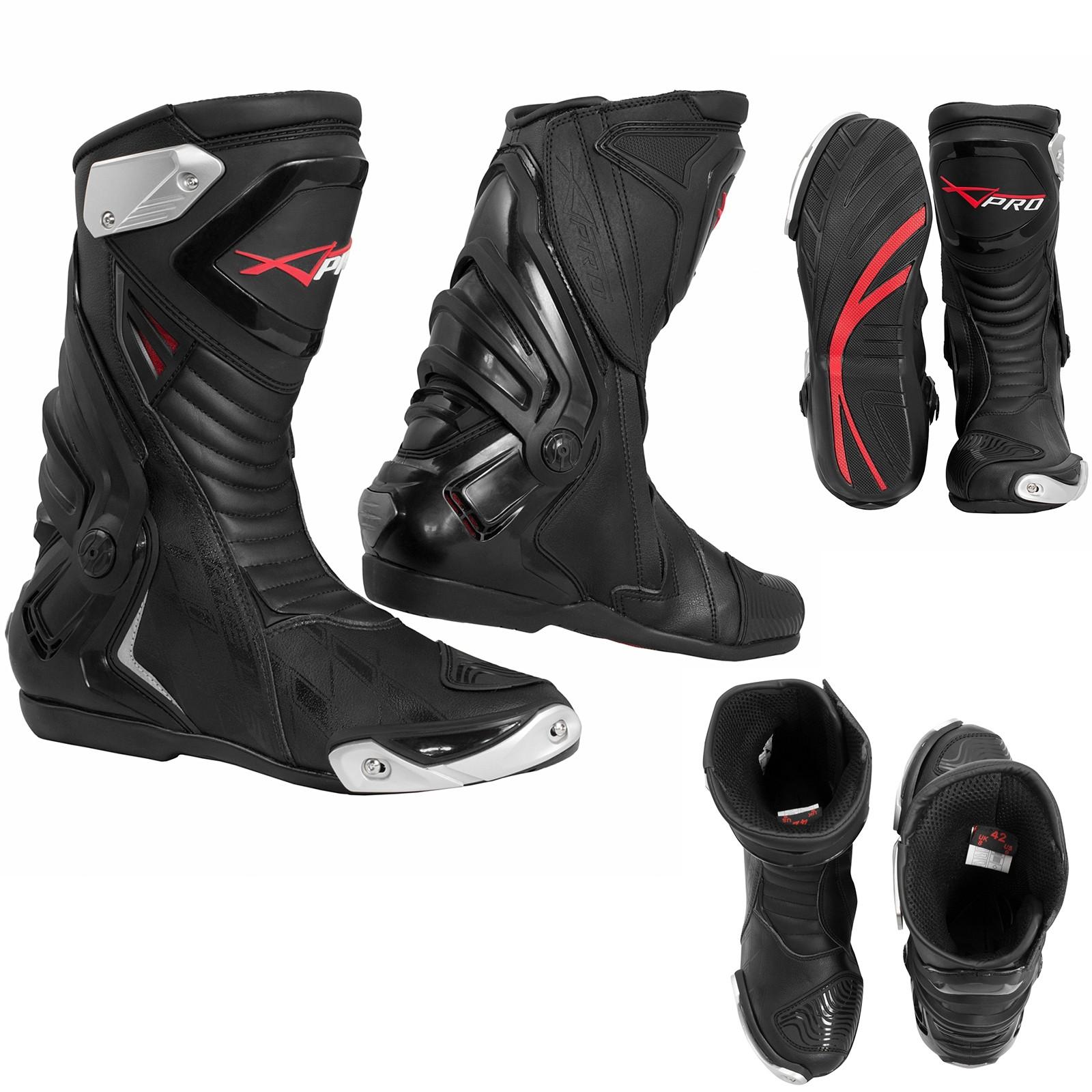 Supertech-Stivali-Boots-Motorcycle-Nero-Black-A-Pro-Sonic-Moto-Set