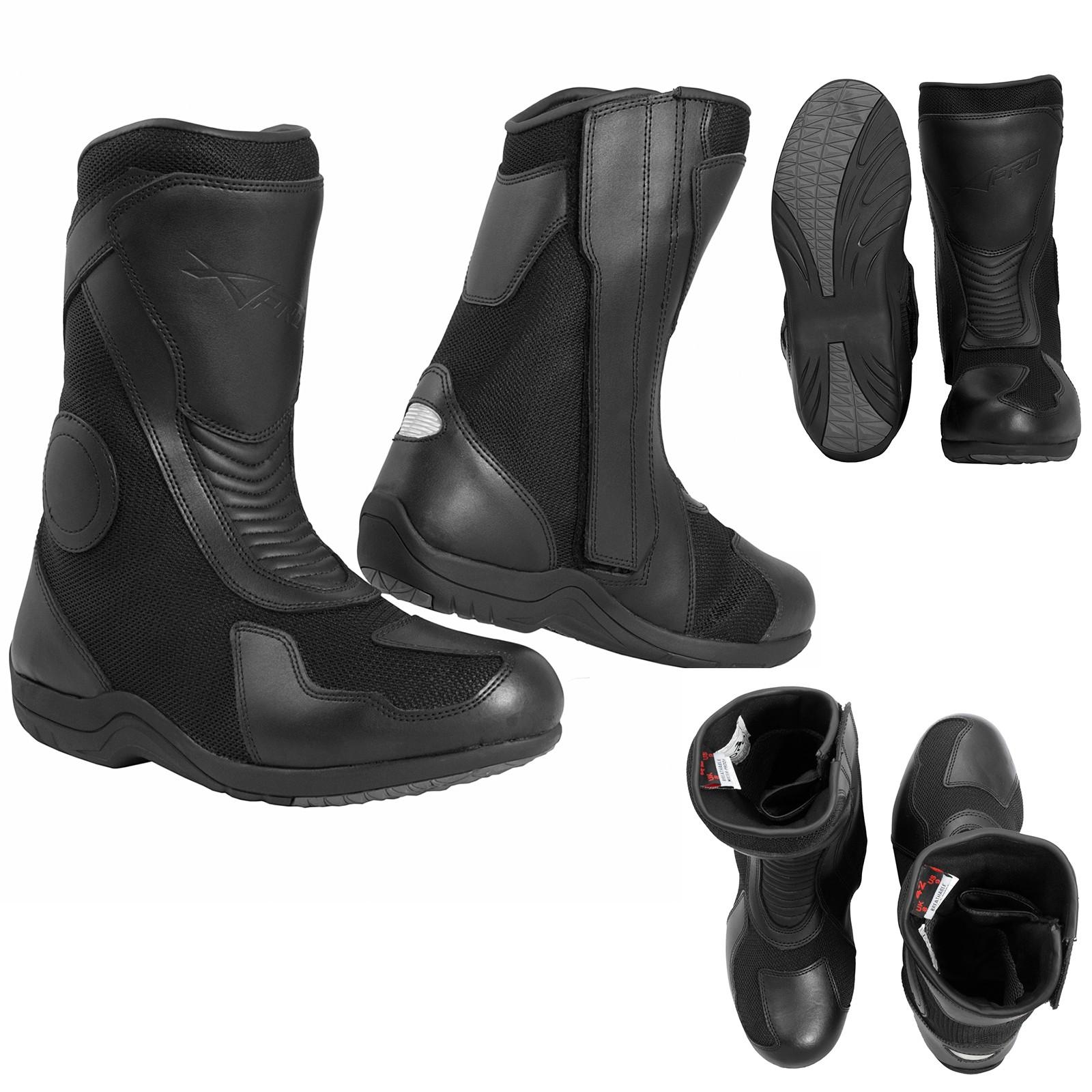 Toledo-Boots-Stivali-Motorcycle-Nero-Black-A-Pro-Sonic-Moto-Set