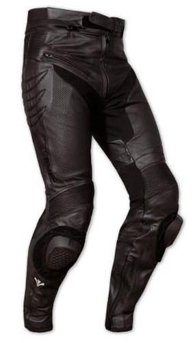 Pantaloni Sportivo Pelle Traforato Traspirante Moto Protezioni Omologate