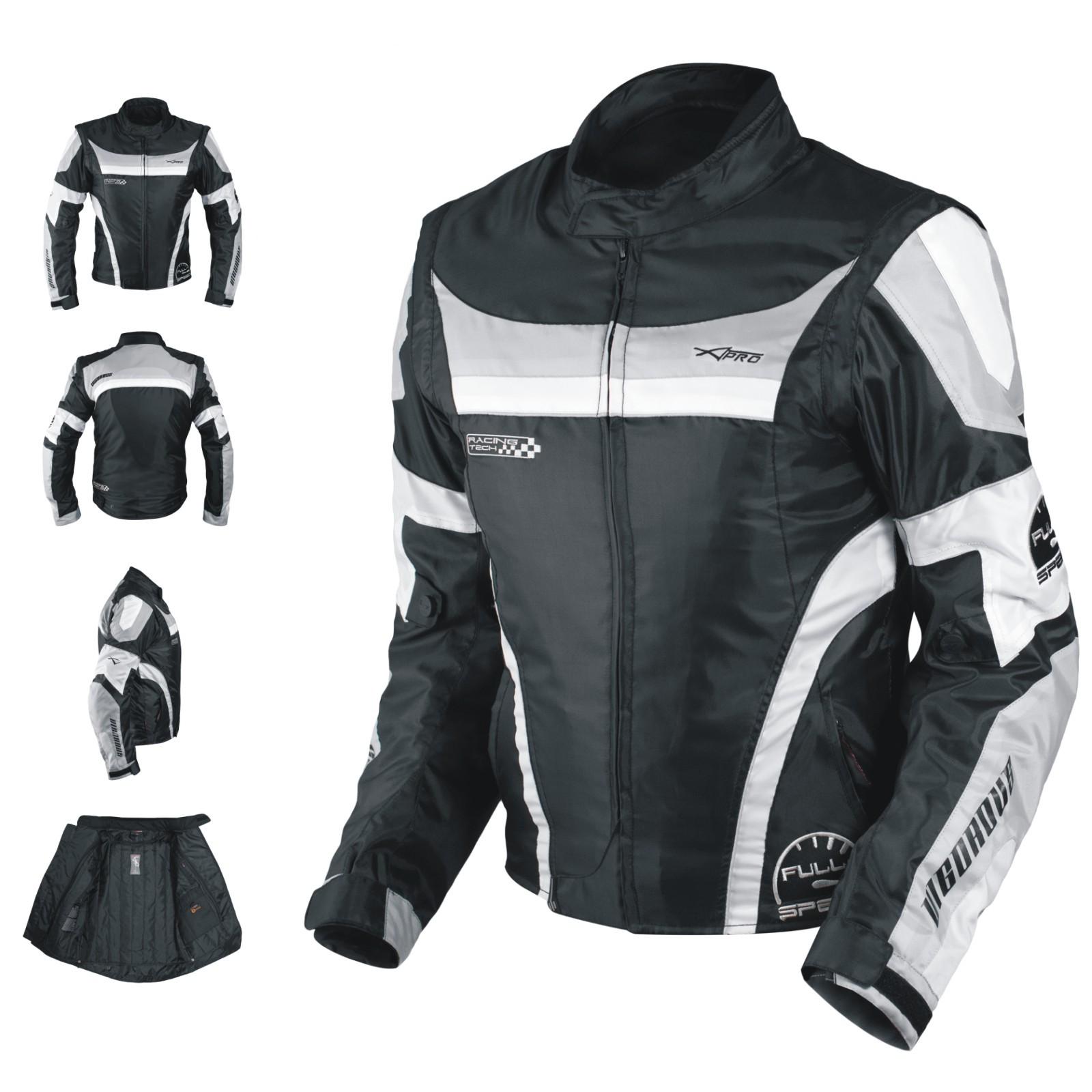 Vigorous A-Pro Giacca Jacket Grigio Grey Tessuto Textile Sonic Moto