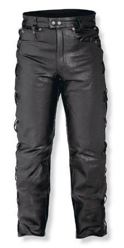 Jeans Pelle Pantaloni Moto Custom Chopper Nero Comfort A-Pro