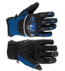 Guanto Tessuto Moto Protezione Nocche Estivo Tessuto Mesh Traforato Estivo Blue