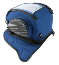 Borsa Serbatoio Magnetica Ancoraggio Calamite Zaino Moto Touring Custom Blu