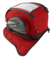 Borsa Serbatoio Magnetica Ancoraggio Calamite Zaino Moto Touring Custom Rosso