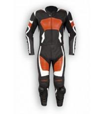 Tuta Divisibile Pelle Sportiva Naked Turismo Moto Corsa Pista Arancione