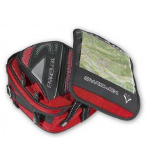 Borsa PortaAttrezzi Oggetti Tessuto Magnetica Serbatoio Vespa Moto Touring Rosso