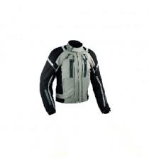Giacca Moto Tessuto Cordura Mesh Protezioni CE Impermeabile 4 Stagioni Grigio