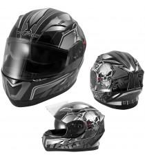 Alliance-Casco-Helmet-Motorcycle-Argento-Silver-Sonic-Moto-A-Pro-Set
