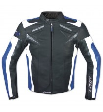Arrow-A-Pro-Giacca-Jacket-Blue-Blu-Pelle-Leather-Sonic-Moto