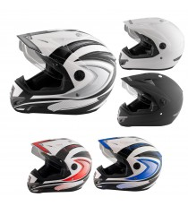 Casco Moto Cross Enduro Trial Quad Off Road Visiera Anti Nebbia