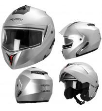 Balance-Casco-Helmet-Motorcycle-Argento-Silver-Sonic-Moto-A-Pro-Compo