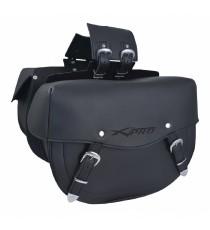 Borse laterali borsa moto Custom Chopper Universale 21 l Nero