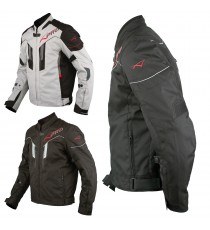 Giacca Moto Tessuto Sport Protezioni CE Riflettente Ventilata Impermeabile