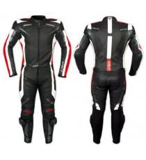 Tuta Pelle Moto Racing Pista Sport 2 Pezzi Divisibile Spezzato Prese Aria Rosso