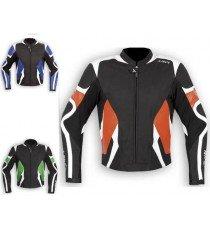 Giacca Pelle Sport Race Racing Moto Gobba Protezioni CE KTM SUZUKI KAWASAKI