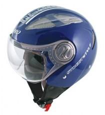 Casco Jet Demi Avio Prese Aria Traspirante Omologato Moto Scooter Touring Blu