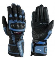 Guanto Pista Racing Sport Protezioni Tecnico Professionali Pelle Moto A-pro Blu