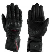 Guanto Pista Racing Sport Protezioni Tecnico Professionali Pelle Moto A-pro Nero