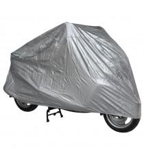 Telo Copri Moto Scooter Naked Customo Impermeabile PVC Universale Argento