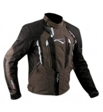 Giacca Cordura Moto Tessuto Impermeabile Sport Termica Sfoderabile Marrone