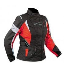 Lady Giacca Moto Donna Impermeabile Termica Sfoderabile Protezioni CE Rosso