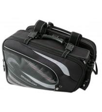 Coppia Borse Laterali Tessuto Impermeabili Moto Touring Gran Turismo Nero