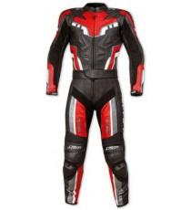 Tuta Intera Divisibile Pelle Moto Sport Turismo Protezioni Omologate Rosso