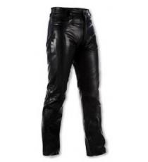 Pantaloni Donna pelle moto Custom Chopper Jeans 5 Tasche American Pro