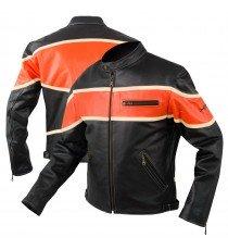 Giacca  Moto Pelle Custom Bikers Motociclista Chopper Stile