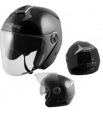 Duplex-Casco-Helmet-Motorcycle-Black-Nero-A-Pro-Sonic-Moto-Set