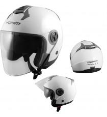 Duplex-Casco-Helmet-Motorcycle-Bianco-White-A-Pro-Sonic-Moto-Set