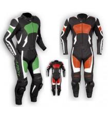 Tuta Divisibile Pelle Sportiva Naked Turismo Moto Corsa Pista