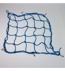Rete Fermabagagli Elastica Moto Ragno Portapacchi Universale Scooter Blu