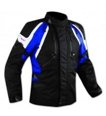 Enduro Giacca Moto Turismo Touring Off Road Cordura Impermeabile Blu