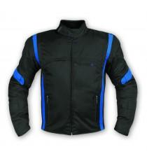 Giacca Moto Tessuto Cordura Manica Staccabile Racing Sport Touring Blu