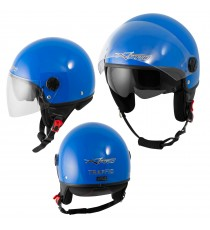 Jet Helmet Traffic A-Pro Casco Blue Sonicmotoshop